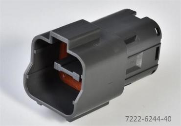 Yazaki 7222-6244-40 connector wire to wire 4 pin male housing connector
