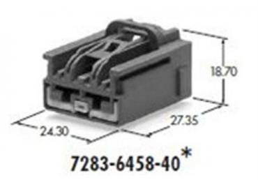Yazaki 7283-6458-40 female housing connector 6.3mm(250) 2 pin
