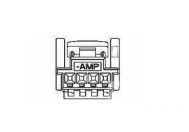 TE AMP 1473672-1 4 pins    housing connector