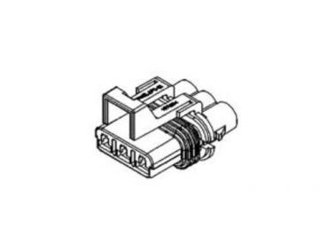 Delphi 12040977 3 way female connector housing