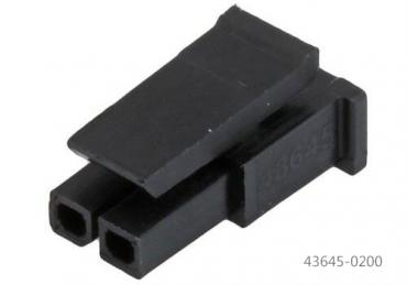 Molex 43645-0200 2 pin Receptacle housing connector